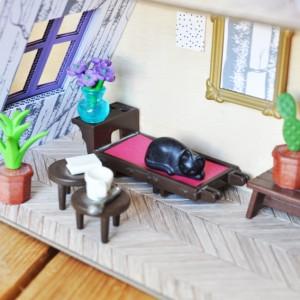 Datcha bucolique - Camaïeu de violet