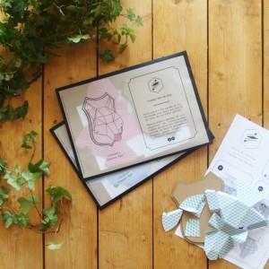 Trophée papier // tête de loup // Kit