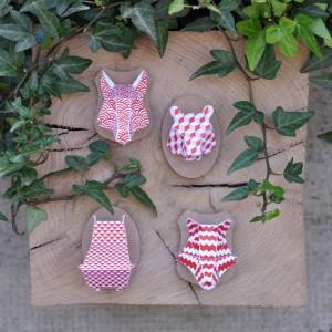 Minis trophées papier aimantés // rouge