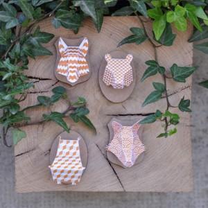 Minis trophées papier aimantés // orange