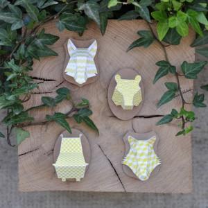 Minis trophées papier aimantés // jaune