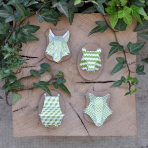 Minis trophées papier aimantés // vert
