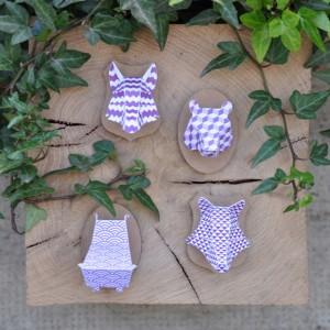 Minis trophées papier aimantés // violet