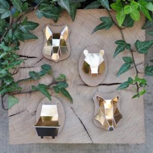 Minis trophées papier aimantés // doré