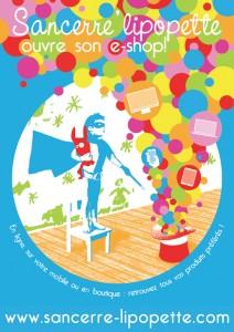 Affiche pour boutique Sancerre'lipopette