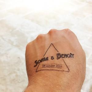 Tatouages éphémères pour le mariage de Sonia et Benoit